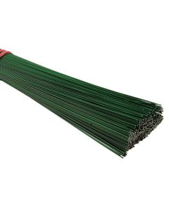 30cm 20swg Green Lacquered Stubbing Wire (1500)