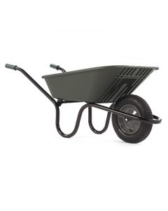 Polypropylene 90ltr Wheelbarrow Green