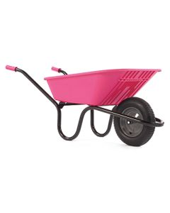 Haemmerlin Polypropylene 90ltr Wheelbarrow Pink