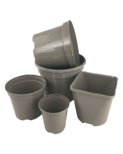 Aeroplas Taupe Recyclable Container Pots With Label Slots - 5 Pack