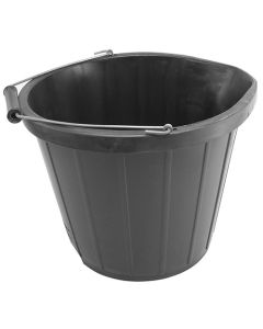 Black 3 Gallon Buckets (Pack of 5)