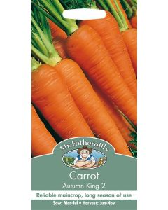 Mr Fothergills Vegetable Seeds - Carrot Autumn King 2 Seeds