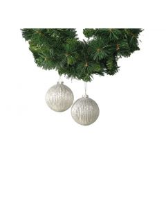 Calista Glass Baubles - White