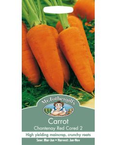 Mr Fothergills Vegetable Seeds - Carrot Chantenay Red Cored 2 Seeds