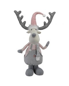 Standing Reindeer With Pink and Grey Decorations - 62cm (2)