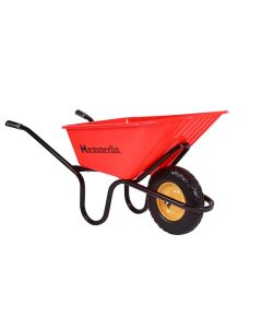 Haemmerlin Crusader 120ltr Thick HDPE Wheelbarrow - Puncture Free Tyre