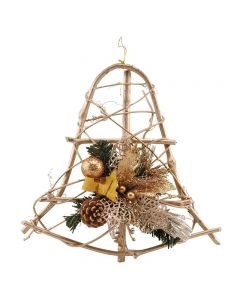Decorated Bell Wreath - Gold (12)