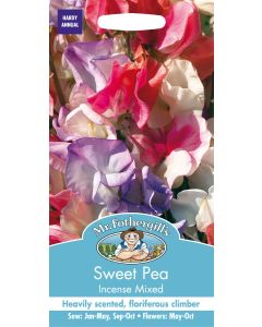 Mr Fothergills Flower Seeds - Flowers Sweet Pea Incense Mixed