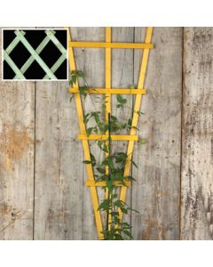 "70"" Green Wooden Fan Trellis"