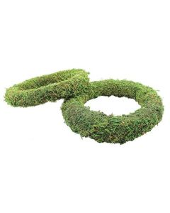 """10"""" Padded Moss Effect Wreath Rings Without Integral Wire (Pack of 80)"""
