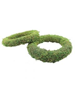 Moss Effect Wreath Rings Without Integral Wire