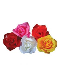 Red Plastic Rose (Pack of 100)