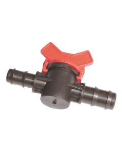 16mm x 16mm Barbed Ball Valve - Barbed Fitting