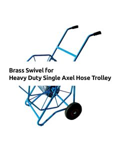 Brass Swivel for Heavy Duty Single Axel Hose Trolley