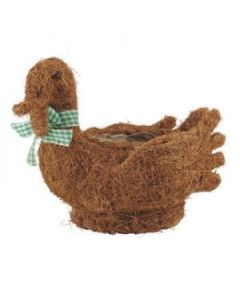 Coco Fibre Duck Planter