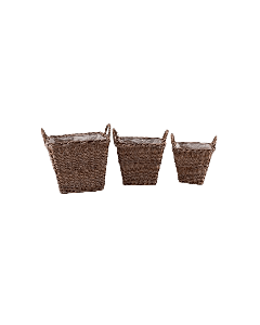 Extra Large Square Rattan Planters with Handles