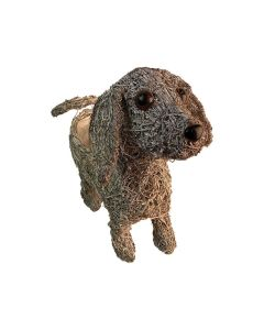 Whitewash Dog Planter (Single)