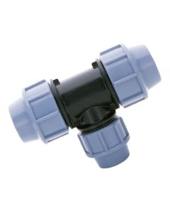 25mm x 20mm x 25mm Branch Reducing Tee - MDPE Pipe Fitting