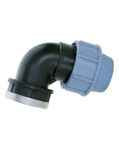 "50mm x 1 ½"" BSP Female Elbow - MDPE Pipe Fitting"