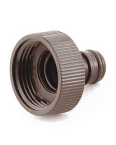 """Plastic Hose Fitting: ¾"""" Threaded Tap Connector"""