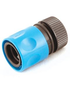 """Plastic Hose Fitting: ½"""" Hose End Connector - With Stop"""
