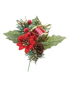 Red Poinsettia, Cone and Drum Picks (Pack of 50)