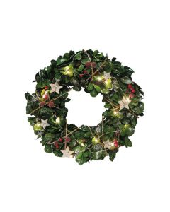Christmas Wreath Ring with LED Lights - 36cm