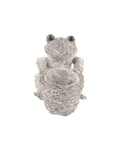 Silver Frog With Planting Area