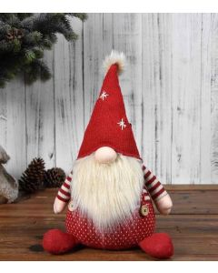 Gnome with Dungarees & Christmas Hat
