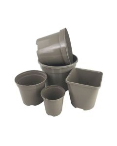 Aeroplas Recyclable Taupe Deep Rose Container Pots (5) - 4ltr