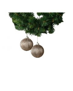Titania Glass Bauble - Rose Gold