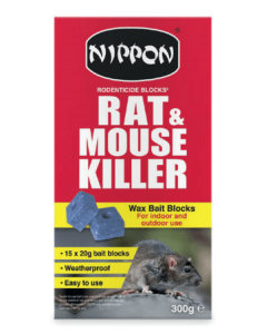 Rodenticide Bait Rat & Mouse Killer - 15 x 20g Wax Blocks