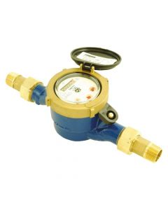 "Water Meter - ½"" Male BSP - 0.5 - 50ltr/min"