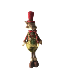 Standing Fox With Dungarees, Scarf & Top Hat - 69cm (12)