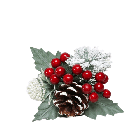Red Snow Berry, Spruce and Cone Pick