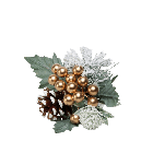 Gold Snow Berry, Spruce and Cone Pick