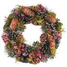 Frosted Cone & Berry Wreath