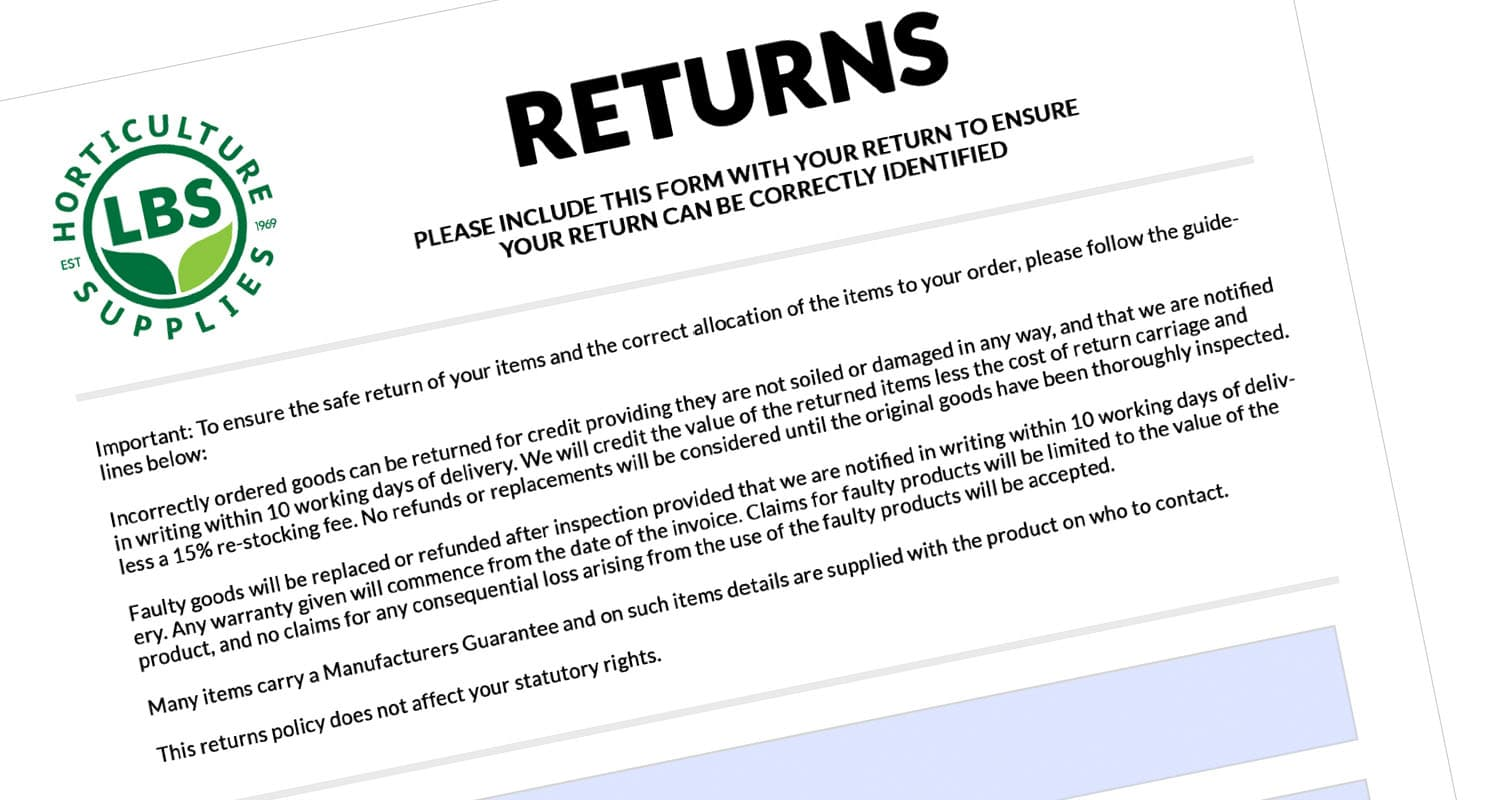 LBS Returns Form